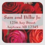 Bouquet of Red Roses Wedding Return Address