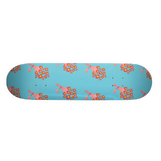 Bouquet of Roses blue 21.3 Cm Mini Skateboard Deck