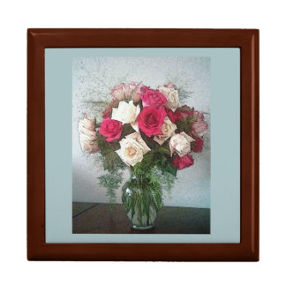 Bouquet Of Roses Large Square Gift Box