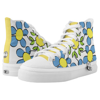 Bouquet of spring flowers printed shoes