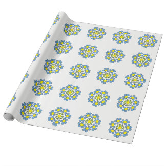 Bouquet of spring flowers wrapping paper