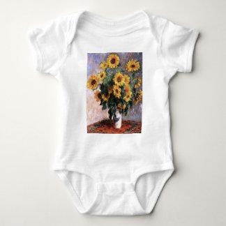 Bouquet of sunflower baby bodysuit