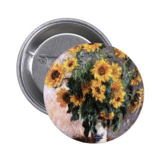 Bouquet of sunflower 6 cm round badge