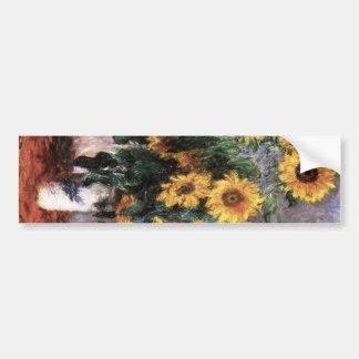 Bouquet of sunflower bumper sticker