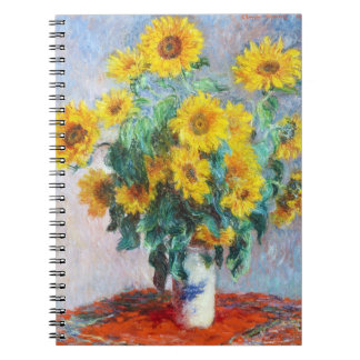 Bouquet of Sunflowers, 1880 Claude Monet Notebook