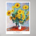 Bouquet of Sunflowers, 1880 Claude Monet Poster