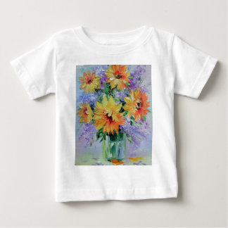 Bouquet of sunflowers baby T-Shirt