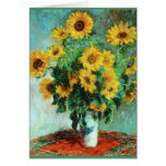 Bouquet of Sunflowers by Claude Monet Greeting Card
