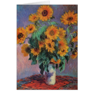Bouquet of Sunflowers by Claude Monet Card
