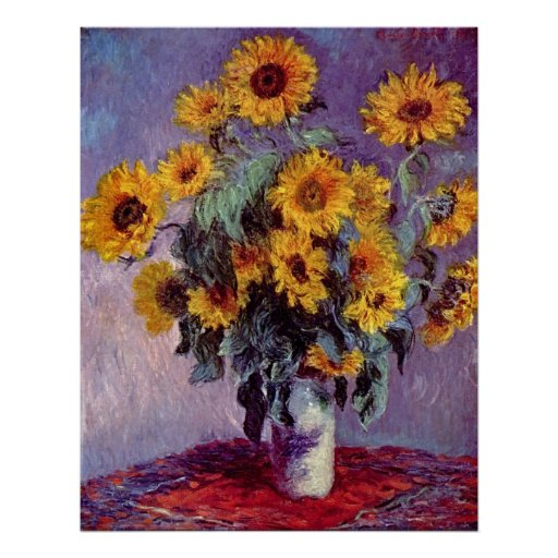 Bouquet of Sunflowers by Claude Monet Poster