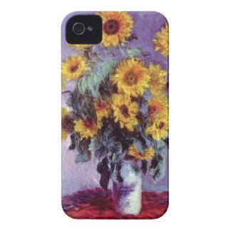 Bouquet of Sunflowers by Claude Monet, Vintage Art iPhone 4 Case