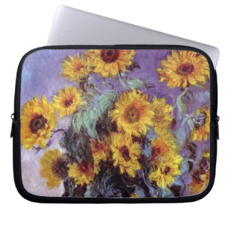 Bouquet of Sunflowers by Claude Monet, Vintage Art Laptop Sleeve