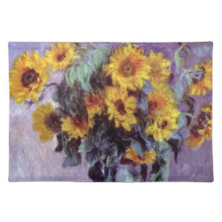 Bouquet of Sunflowers by Claude Monet, Vintage Art Placemat