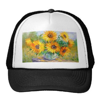 Bouquet of sunflowers cap