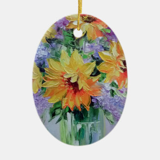 Bouquet of sunflowers christmas ornament