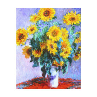Bouquet of Sunflowers Claude Monet Fine Art Gallery Wrapped Canvas