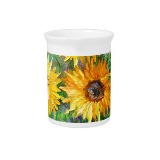 Bouquet of sunflowers pitcher