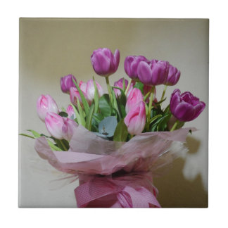 Bouquet of Tulips Tile