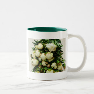 Bouquet of White Peony Buds Mug