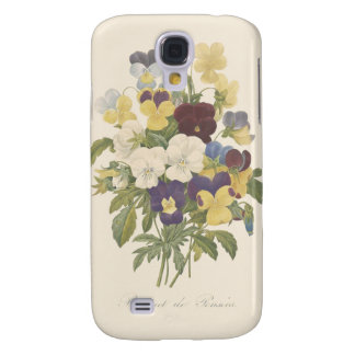 Bouquet Pansy Pansies Flower Illustration Galaxy S4 Case