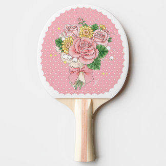Bouquet (pink) ping pong paddle