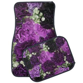 Bouquet Purple Carnations Car Mat