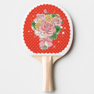 Bouquet (red) ping pong paddle
