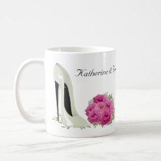Bouquet Roses and Wedding Stiletto Gifts Basic White Mug