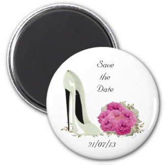 Bouquet Roses and Wedding Stiletto Gifts Fridge Magnet