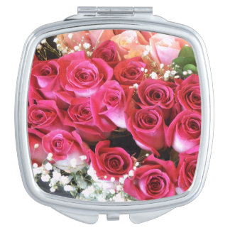 Bouquet Roses Compact Mirror