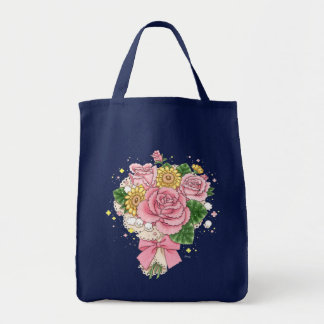Bouquet tote bag (green)