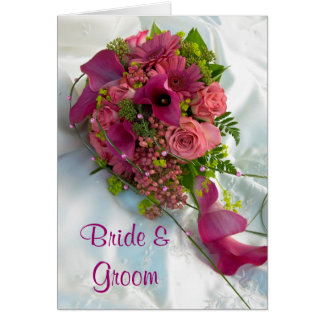 Bouquet Wedding Invitation Card