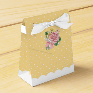 Bouquet (yellow) favour box