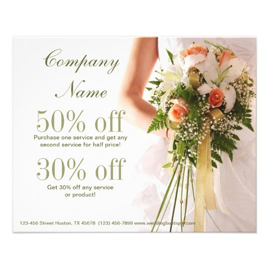 bouquets bridal shop wedding planner business flyer