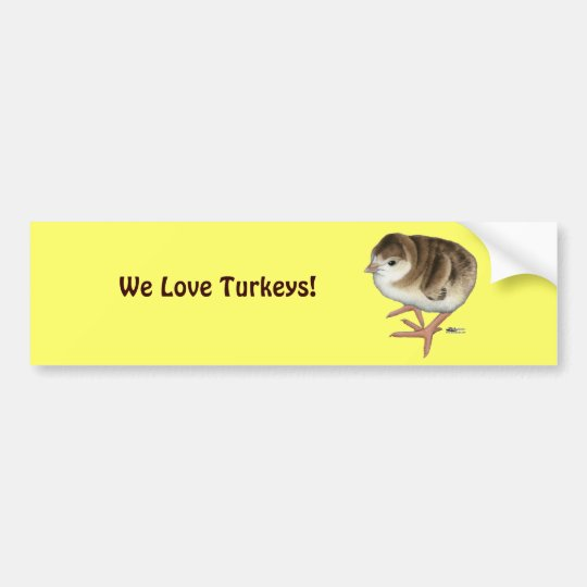 Bourbon Red Turkey Poult Bumper Sticker