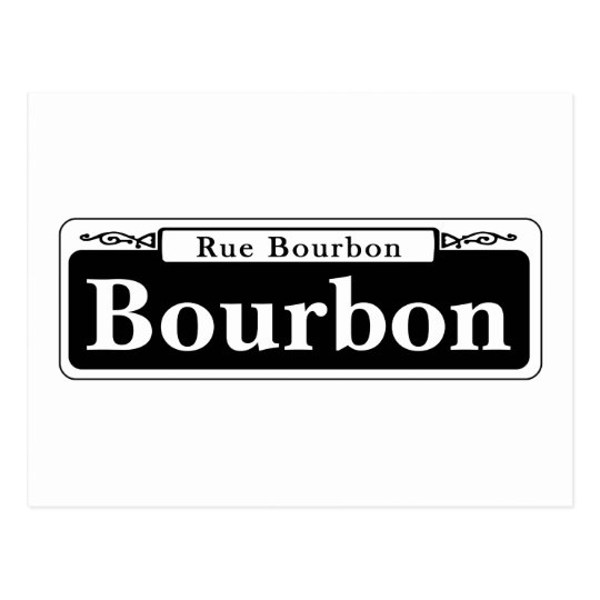 Bourbon St., New Orleans Street Sign Postcard