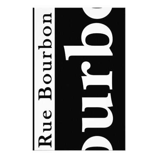 Bourbon St., New Orleans Street Sign Stationery Design