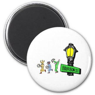 Bourbon Street 6 Cm Round Magnet