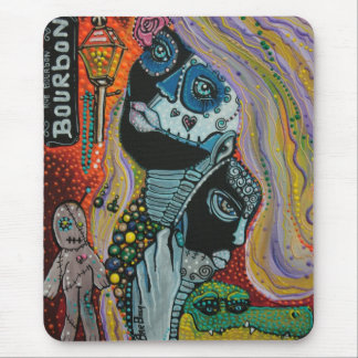 Bourbon Street Mardi Gras Art Mousepads