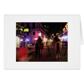 Bourbon Street mounted police Note Card