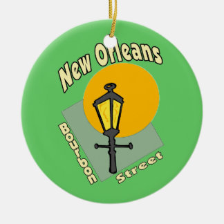 Bourbon Street Sign Christmas Ornament