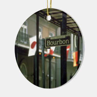 Bourbon Street Sign in New Orleans Christmas Ornament