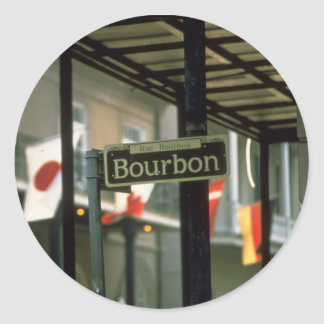 Bourbon Street Sign in New Orleans Classic Round Sticker
