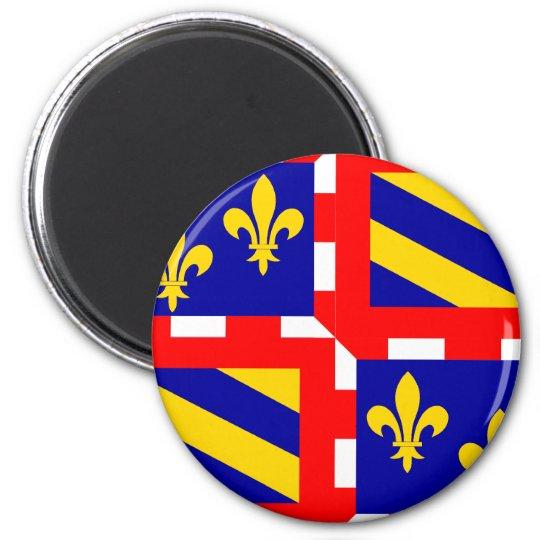 Bourgogne, France 6 Cm Round Magnet