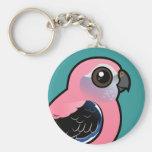 Bourke's Parakeet Basic Round Button Key Ring