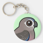 Bourke's Parrot Basic Round Button Key Ring