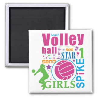 Bourne Beach Volleyball Magnet