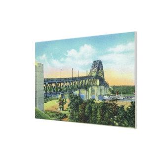 Bourne Bridge over Cape Cod Canal View Canvas Print