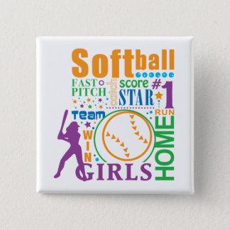 Bourne Softball 15 Cm Square Badge
