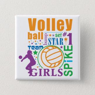 Bourne Volleyball 15 Cm Square Badge